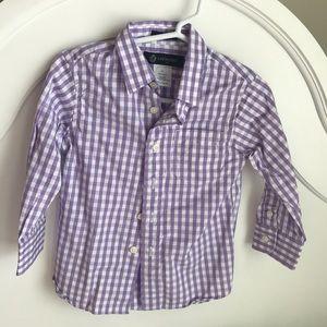 NWOT Purple Boy Button Down Size 2